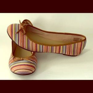 American Eagle Rainbow Striped Slip Ons
